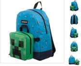 Minecraft Kinderrugzak 17 liter - Blauw/Groen