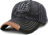 Baseball Cap - FLB - Black Washed Vintage - C019