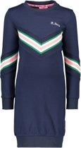 B.Nosy Meisjes Sweat jurk - ink blauw - Maat 110/116