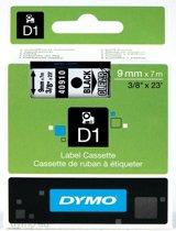 Dymo Tape Type D1 (9mm X 7m) - Zwart