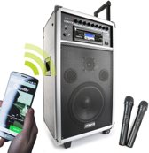 Vonyx ST100 MK2 Mobiele geluidsinstallatie 8 inch BT/CD/MP3/UHF