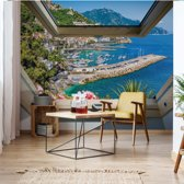 Fotobehang Italy Coast Skylight Window View | VEXXXXXL - 520cm x 318cm | 130gr/m2 Vlies