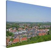 Uitzicht over de Duitse stad Essen Canvas 180x120 cm - Foto print op Canvas schilderij (Wanddecoratie woonkamer / slaapkamer) / Europese steden Canvas Schilderijen XXL / Groot formaat!