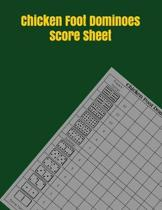Chicken Foot Dominoes Score Sheet