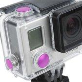 3-PCs TMC aluminium geanodiseerde kleurknoppen set voor GoPro Hero 3+ (magenta)