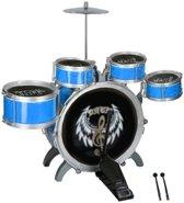 Eddy Toys Drumstel 8-delig Blauw