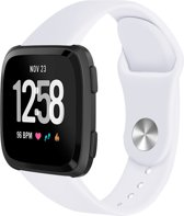 123Watches.nl Fitbit Versa (Lite) silicone band - wit - SM