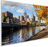 Een zonnige herfstmiddag aan de oevers van de Yarra-rivier in rivier Plexiglas 180x120 cm - Foto print op Glas (Plexiglas wanddecoratie) XXL / Groot formaat!