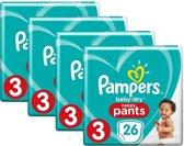 Pampers Luierbroekjes Baby Dry Nappy Pants Maat 3 (6-11kg) - 104 broekjes (4x26)