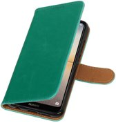 Huawei P20 Lite Groen   Premium PU Leder bookstyle / book case/ wallet case    WN™