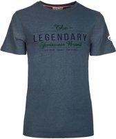Heren T-shirt Texel  -  Denim Blauw