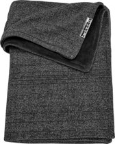Meyco Knit Basic Deluxe wiegdeken - 75x100 cm - grijs melange
