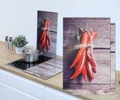 Haushalt 28013 Afdek kookplaten - 2 stuks - rode pepers