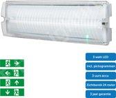 Noodverlichting - vluchtwegverlichting - opbouw - incl. pictogrammen