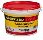 Reparatiemortel van Weber - voor kleine reparaties - droogt razendsnel - watervast - grijs -