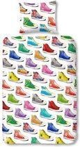 Sneakers flanel dekbedovertrek - Multi - 1-persoons (140x200/220 cm + 1 sloop)