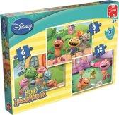 Jumbo Disney Henry Huggle Monster - 3in1 Puzzel - 6,9 en 12 stukjes