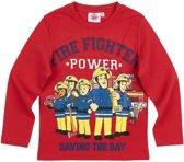 Brandweerman-Sam-T-shirt-met-lange-mouw-rood-maat-128