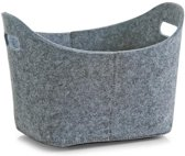 Zeller - Basket, oval, felt, grey