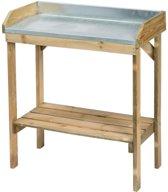 Oppottafel voor zaaien en verpotten zink,FSC hout H97x85x42cm