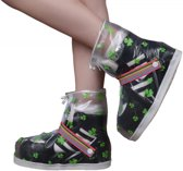 RAINBOW DAY Rain Shoe Cover with strap transparent L