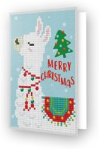 Diamond Dotz kaart Merry Christmas Llama