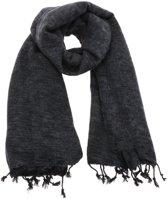 MoreThanHip Pina - brede 'yakwol' sjaal of omslagdoek – antraciet grijs