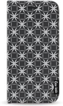 Casetastic Smartphone Hoesje Wallet Case Black Apple iPhone 11 Pro - Geometric Lines Silver