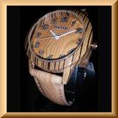 Uniek hout-look horloge van 36 mm