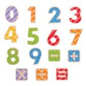 Bigjigs houten magneetcijfers magneet cijfers hout