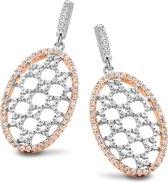 Velini jewels -EA6497R -Oorbellen -925 Zilver rosé -Cubic Zirkonia