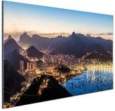 FotoCadeau.nl - Rio de Janeiro by night Aluminium 90x60 cm - Foto print op Aluminium (metaal wanddecoratie)