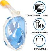 Gadgy® - Duikmasker - Full face duikbril met snorkel - snorkelset voor kinderen blauw - snorkelmasker