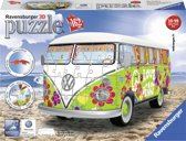 Ravensburger Volkswagen bus T1 Hippie style - 3D puzzel - 162 stukjes