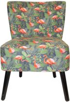 Housevitamin - fauteuil - Flamingo - groen - roze