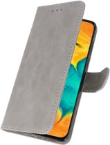 Bookstyle Wallet Case Hoesje voor Samsung Galaxy A30 Grijs