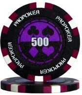 Pokerchip Pro Poker Clay Chip 13,5 Gram Paars 500 Per 25