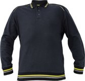 Knoxfield Polo-Sweater antraciet/geel 2XL