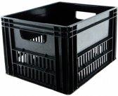 Fietskrat - Plastic 43x35x27cm Fietstas - Voor - Zwart