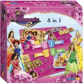 Spel 4 in 1 Prinsessia: o.a. domino en lotto -