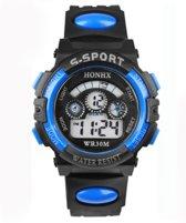 Hidzo Horloge S-Sport ø 37 mm - Blauw - Kunststof