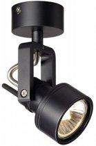 SLV INDA SPOT GU10 wand en plafondlamp Spotlamp 1x50W Zwart 147550