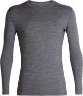 200 Oasis Longsleeve Crew Shirt Heren, gritstone heather