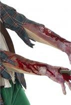 Halloween Latex mouw met littekens en bloed