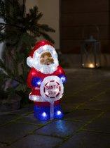 Konstsmide - LED acryl Kerstman outdoor 30cm, timer, op batt 32x - koelwit