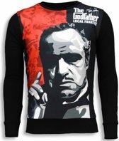 Local Fanatic Padrino - The Godfather - Sweater - Zwart - Maten: XXL