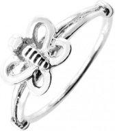 Zilveren ring Vlinder