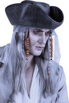 Pruik Ghost Piraat met Hoed