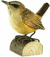Houten vogel - winterkoninkje - set van 2 stuks