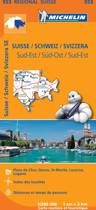 Suisse sud - est 11553 carte ' regional ' michelin kaart